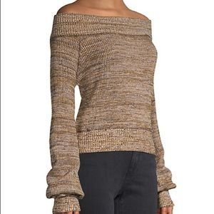 NWT Free People Textured Cotton-Blend Sweater